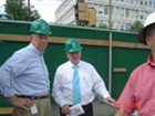 Secretary Freeman visits the Construction site, joined by Bill Laxton.