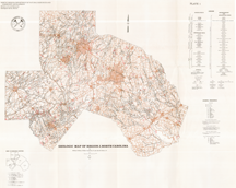 Geologic Map of REGION J - Chatham, Durham, Johnston, Lee, Orange, and Wake Counties, North Carolina, 1:125,000-scale by Wilson, W.F., Carpenter, P.A., III, and Parker, J.M. III, 1981.
