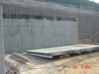 NRC B2 level walls after forms are removed.