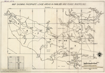 Map Showing Phosphate Lease Areas in Pamlico and Pungo River, North Carolina , by NC Division of Mineral Resources, 1973, 3 Plates.