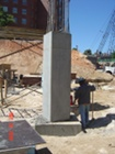 Finished Column, connected with caisson at base.