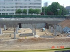 View of Walls formed at NRC B2 Level along Jones St.