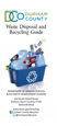 Durham County Waste Disposal and Recycling Guide Brochure