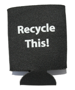 Recycle This! can koozie