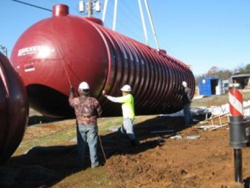 Underground storage tank installation