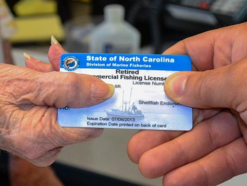 License changing hands