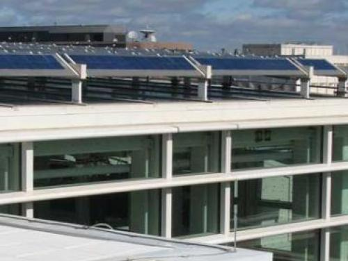 Solar Panels on NRC Green Roof
