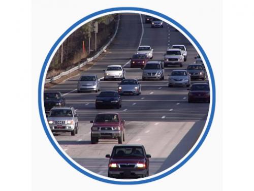 busy multi lane highway