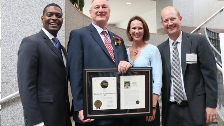 Solid Waste Section Chief Ed Mussler has been recognized with the Governor's Award of Excellence for his work in public service.