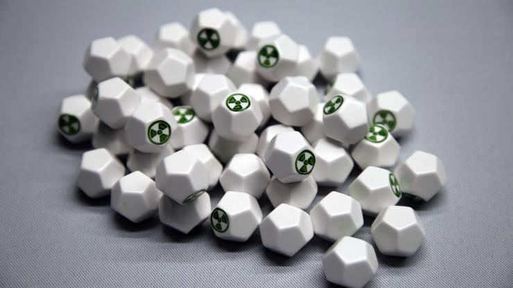 A group of special 12 sided dice for use in this activity