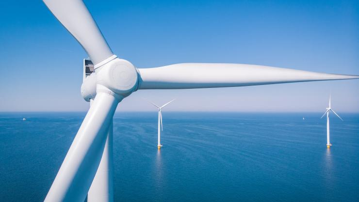 Wind turbine over water