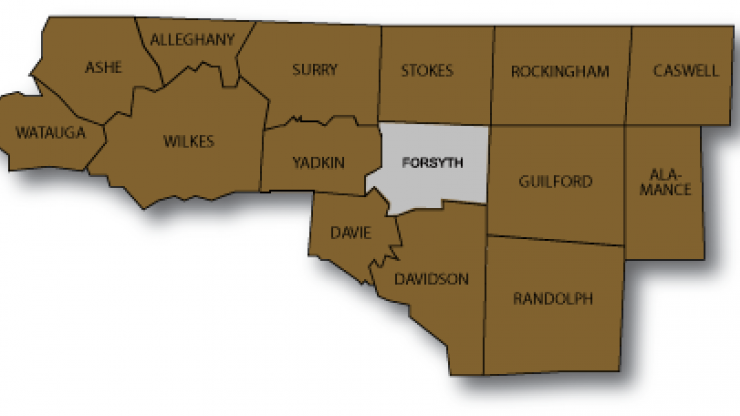 Winston-Salem regional map