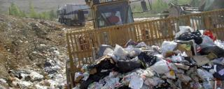 Trash at a landfill