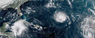 hurricane aerial view