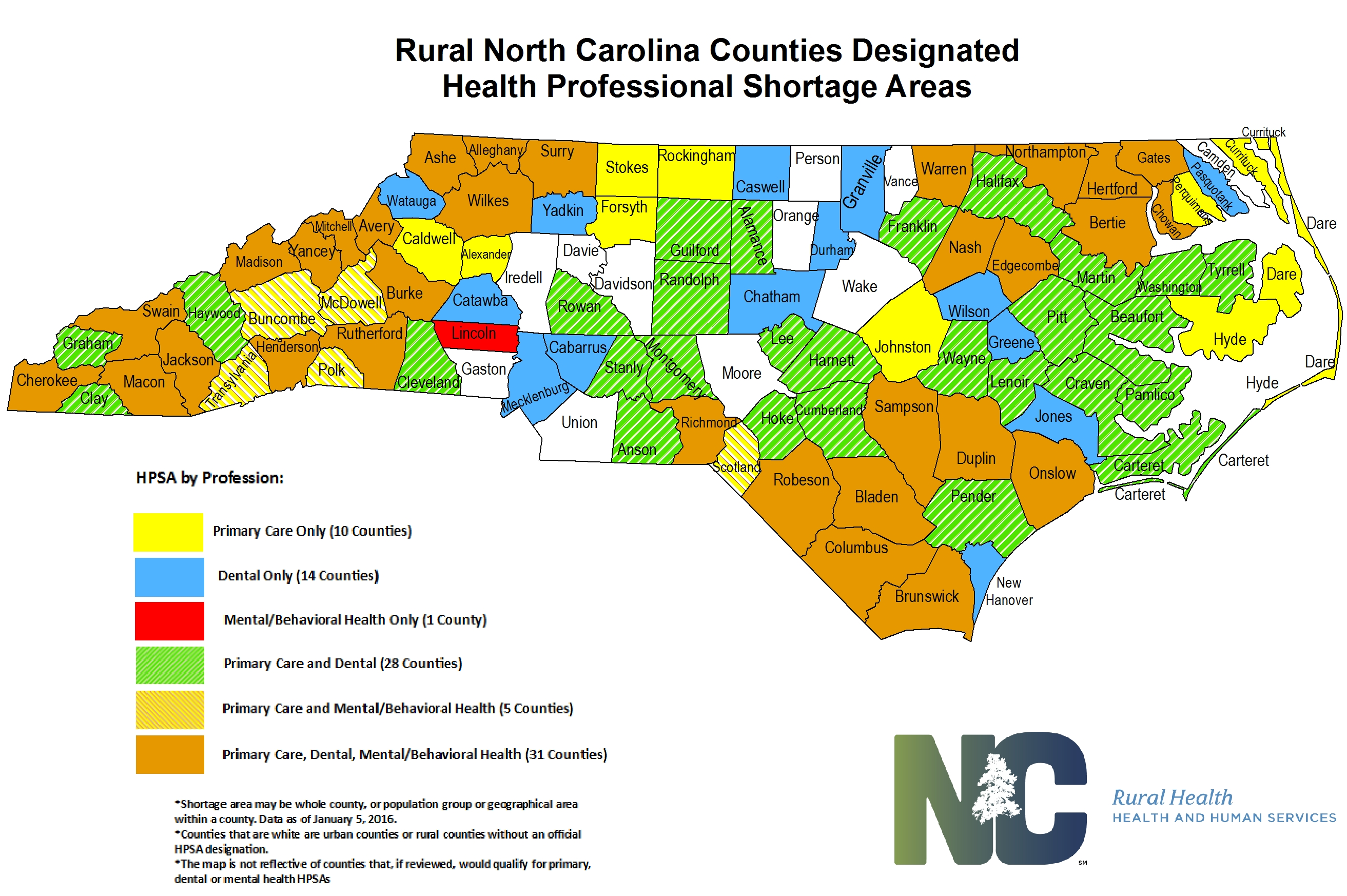 Health Statistics And Data NC Department Of Health And Human - Map in north carolina