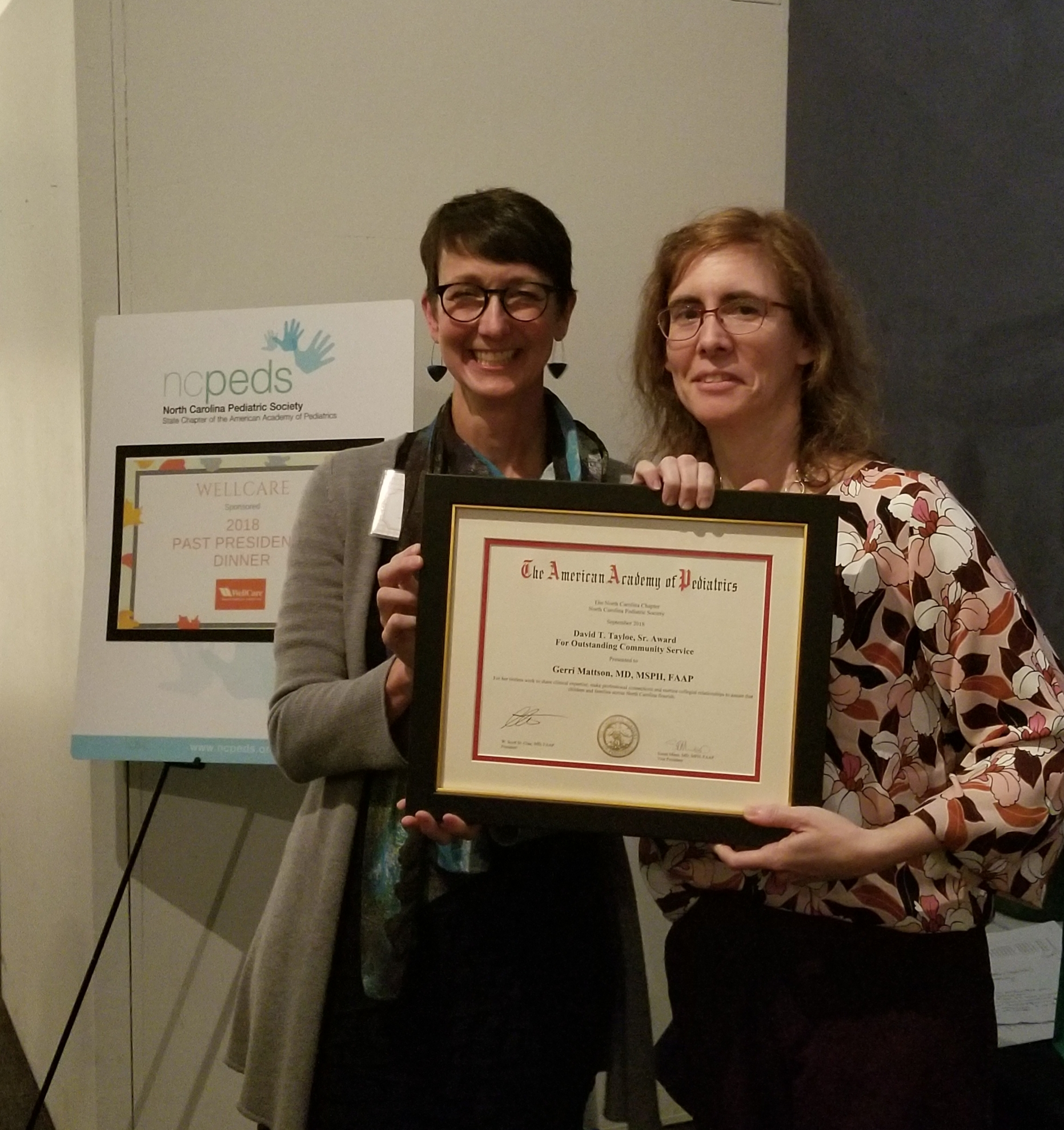 Dr. Gerri Mattson received the David Tayloe Sr. Award on Oct.12.