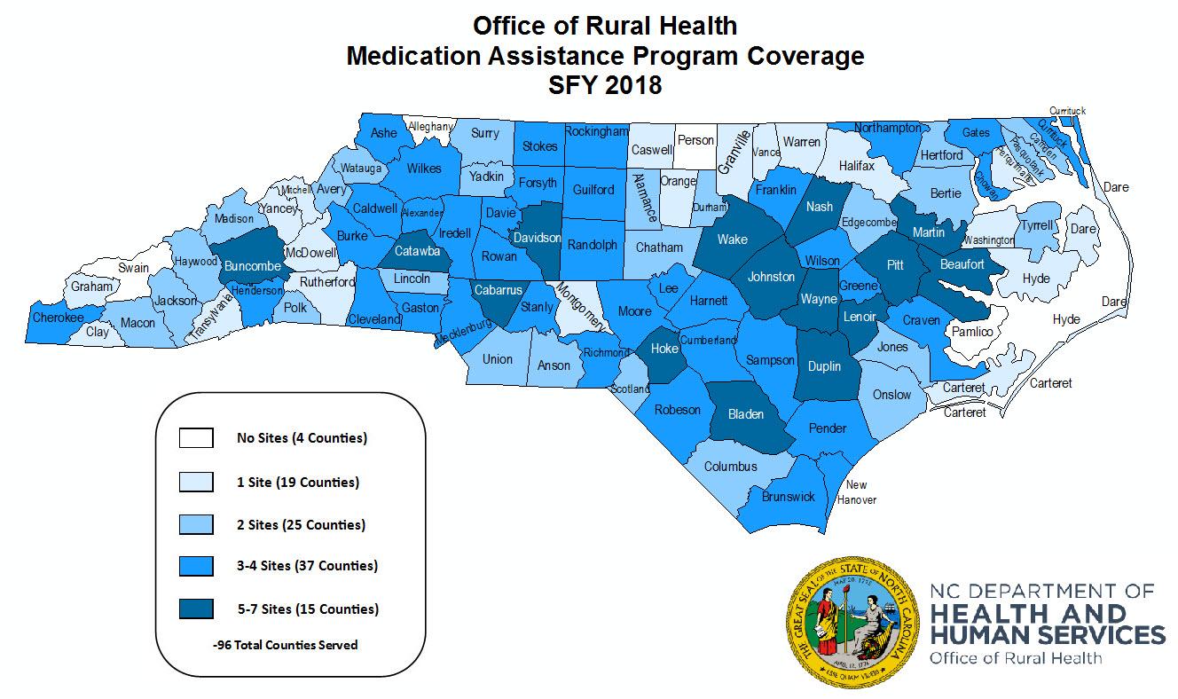 Medication Assistance Program Map NCDHHS: Medication Assistance Program