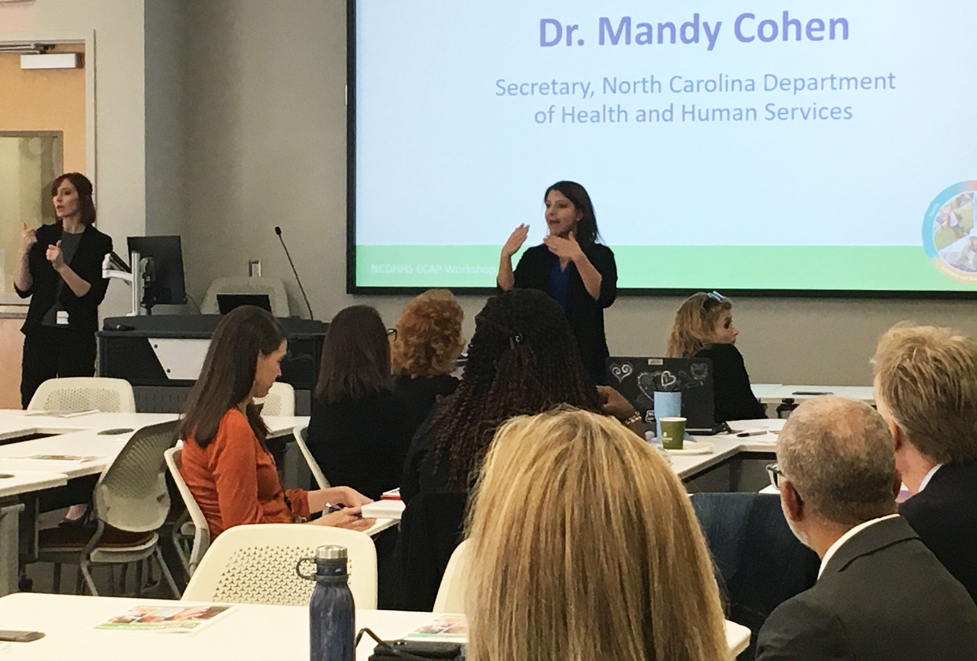 DHHS Secretary Mandy Cohen welcomed attendees from across the Department's divisions