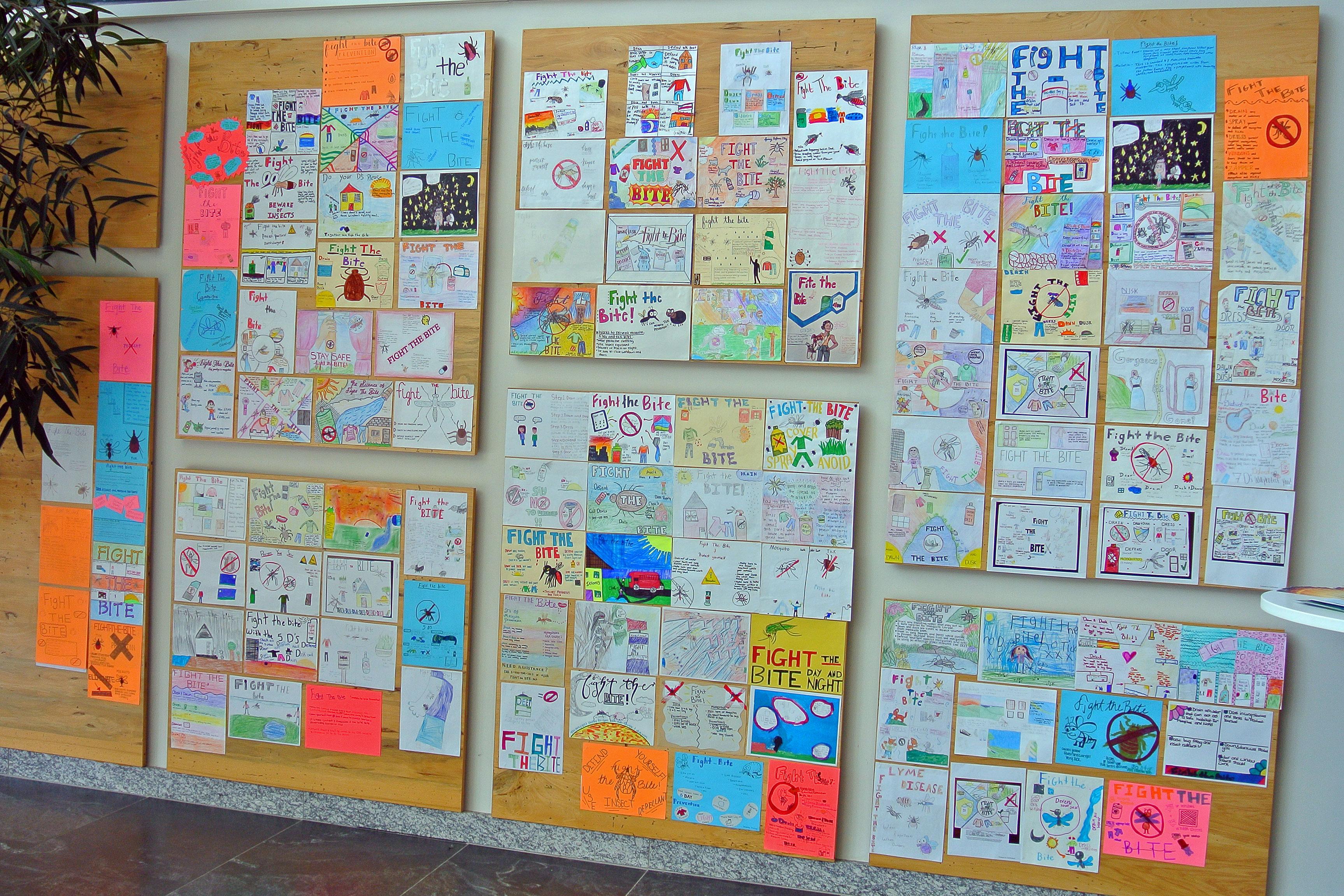 Fight the Bite student art work.