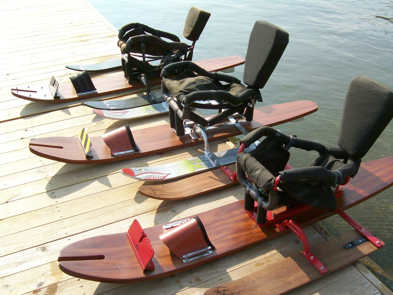 Water skiing equipment specially designed for Riddle Center residents