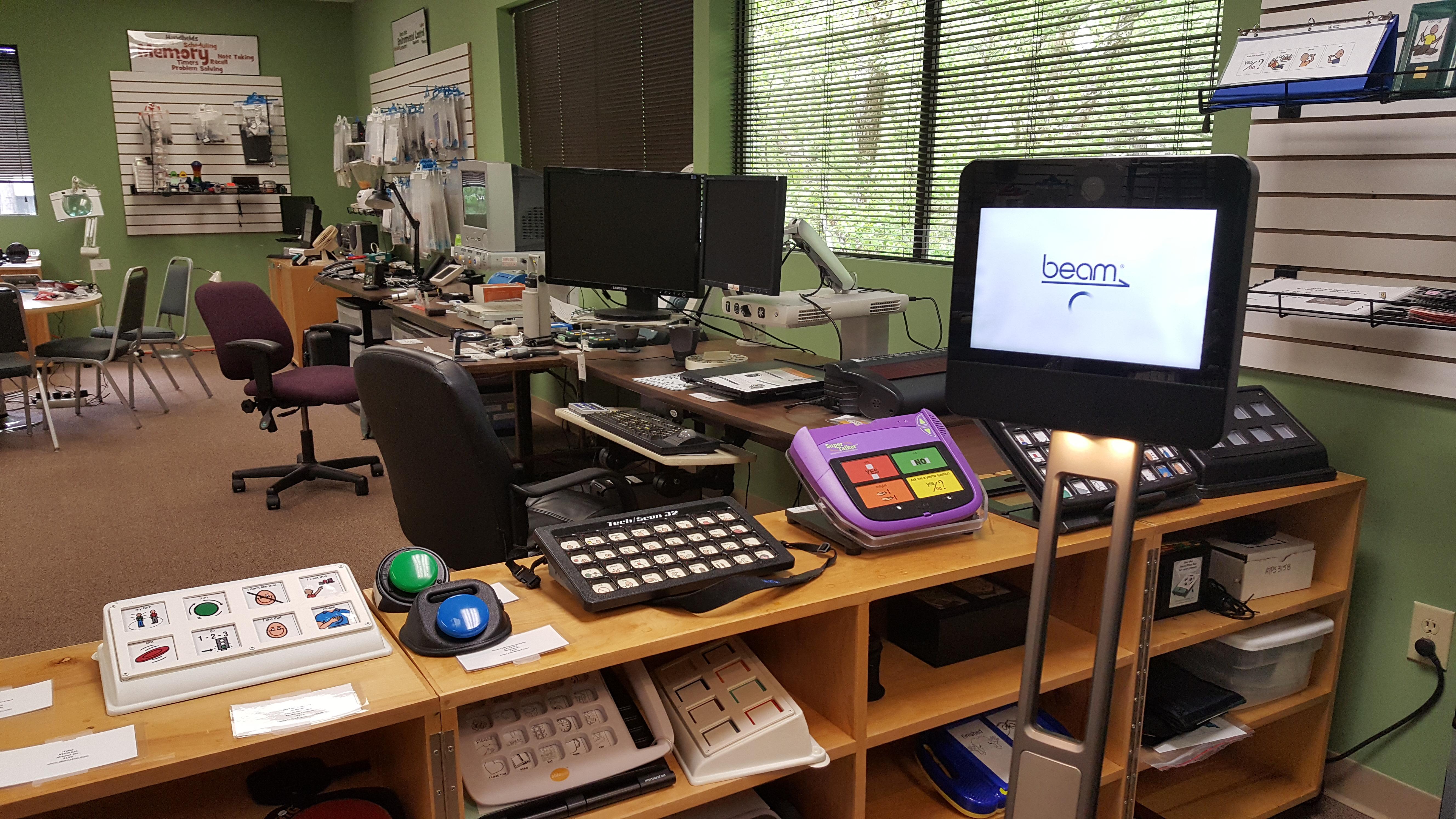 Beam Telepresense Robot in Raleigh AT center