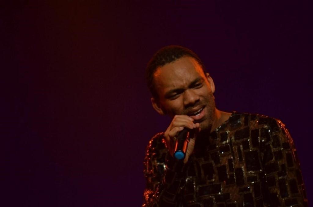 Tyrone Johnson performing