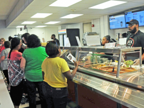 people in line at Dix Cafe