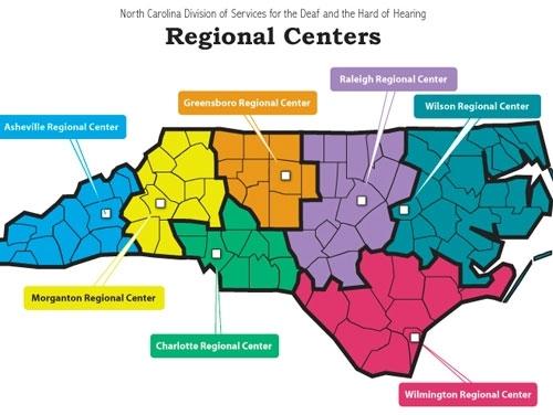 DSDHH Regional Centers Map