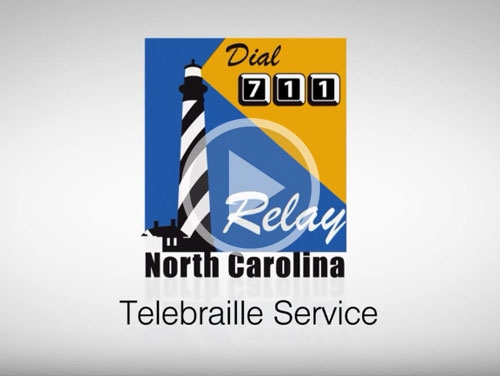 Logo for Relay North Carolina Telebraille for Deaf-Blind