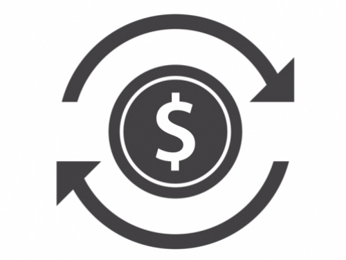 Circle with dollar sign logo