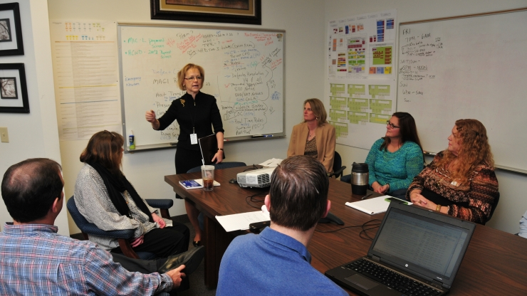 DHHS Secretary Aldona Wos met Monday with NC Fast Team Leaders to thank them for their extra efforts as the USDA deadline approaches.`DHHS Secretary Aldona Wos met Monday with NC Fast Team Leaders to thank them for their extra efforts as the USDA deadline approaches.