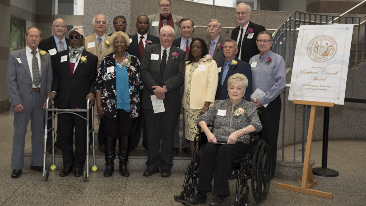 Recipients of the Caswell Awards who attended the ceremony April 2 at the Natural History Museum in Raleigh.