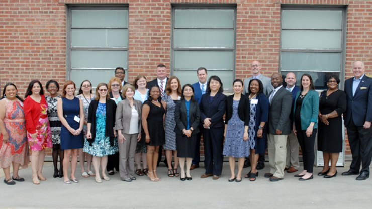 The 2018 class of LeadershipDHHS with Deputy Secretary for Health Services Mark Benton at the graduation ceremony.