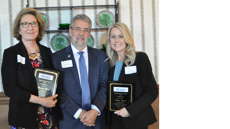 Claudia Horn, Michael Maybee, President/CEO of Watauga Opportunities, Inc., and Tara Myers