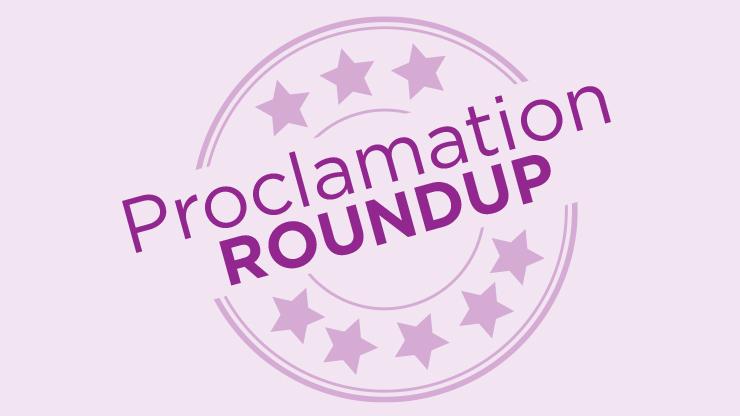 Proclamations Roundup logo.