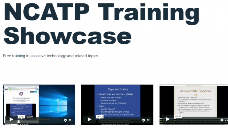 vimeo site for NCATP showcase