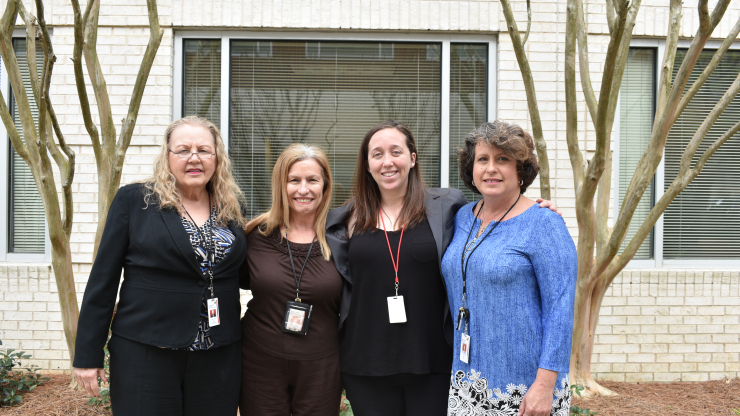 From left to right: Diana Sharp,Sue Helmke,Michelle Davis andLori Dill.