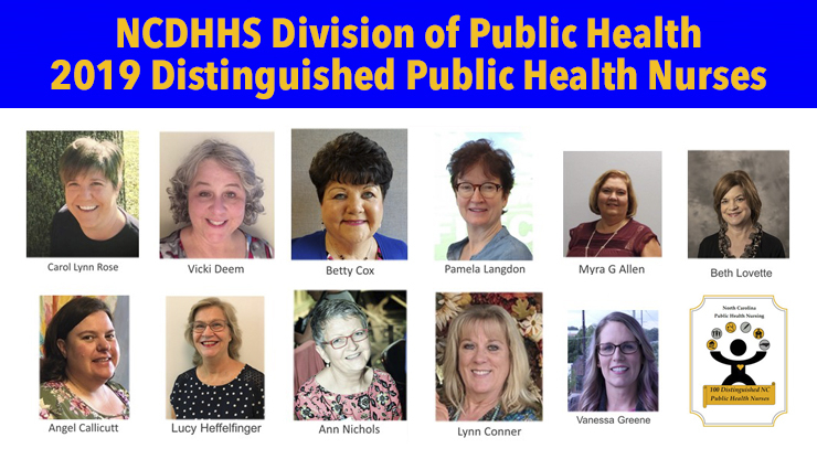 Eleven nurses from the Division of Public Health