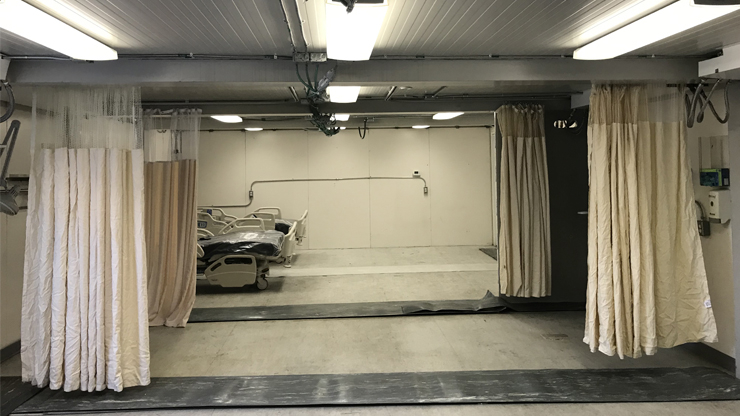 The North Carolina mobile hospital set up in Atlanta