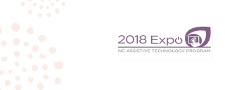 2018 AT Expo Logo Purple letters on a white Background