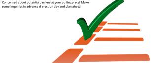 Green Check-mark on an orange ballot