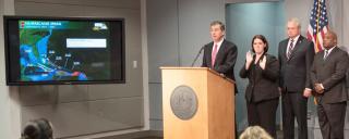 Interpreter with Governor Cooper