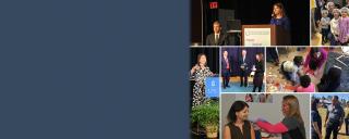 Collage of Secretary Mandy Cohen