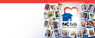 Photo Collage and NC Kids Adoption Logo