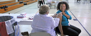 Person getting flu shot