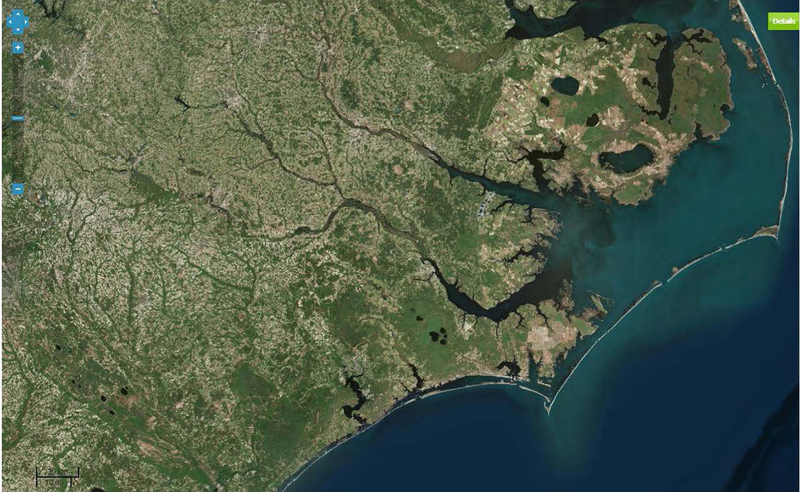 nc coastline satellite image