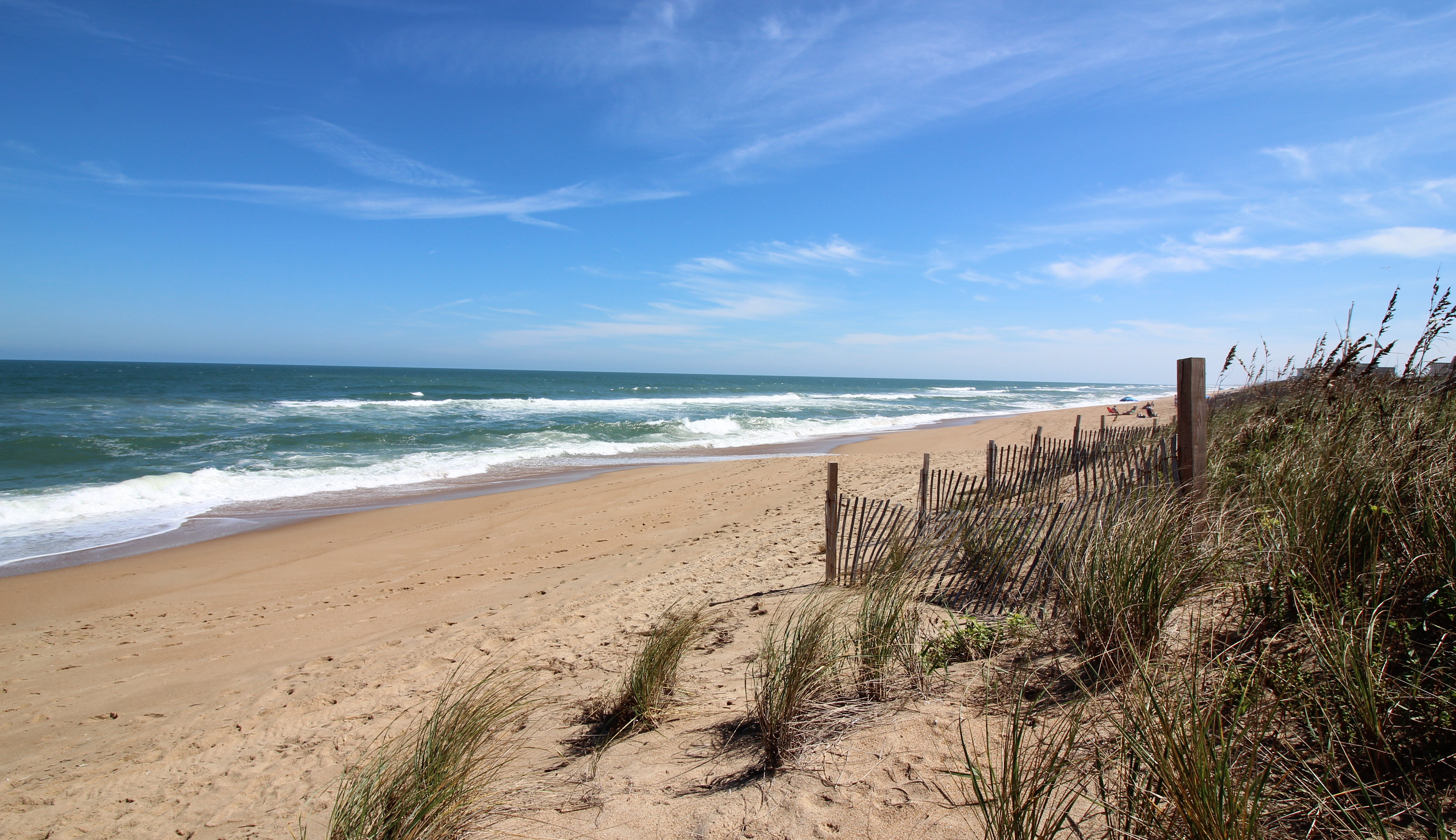 beach view from dunes