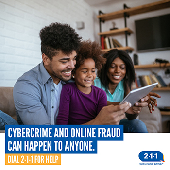 North Carolina residents who are the victims of cybercrime can dial 211 for help.
