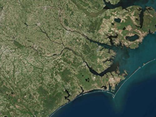 Aerial image of North Carolina coast