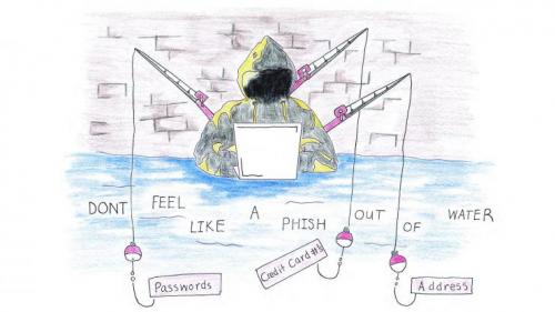 A poster by a student on avoiding phishing attacks